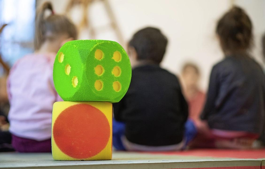 Die Löffinger Kindergärten erhalten zu...r die Verwaltung ein Computerprogramm.  | Foto: Sebastian Gollnow/dpa