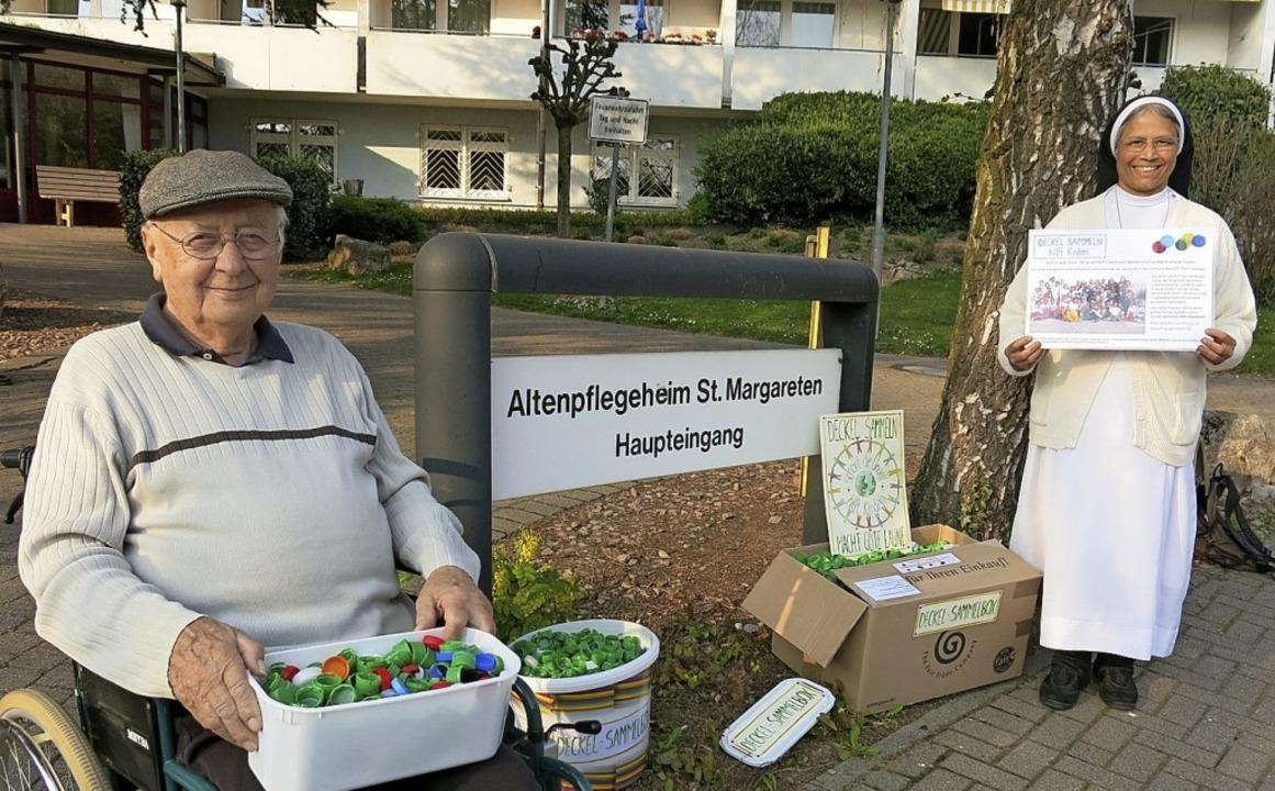 Auch beim Altenpflegeheim werden Deckel gesammelt.  | Foto: Jörg Beckert