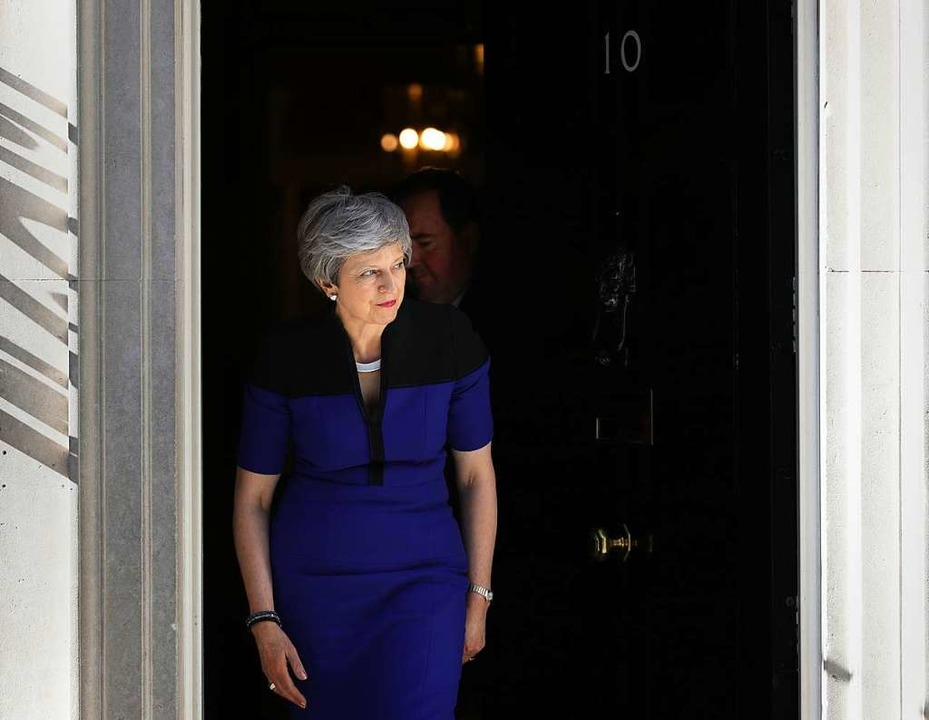 Theresa May, Premierministerin von Gro...Anlauf für ein Brexit-Abkommen nehmen.  | Foto: dpa