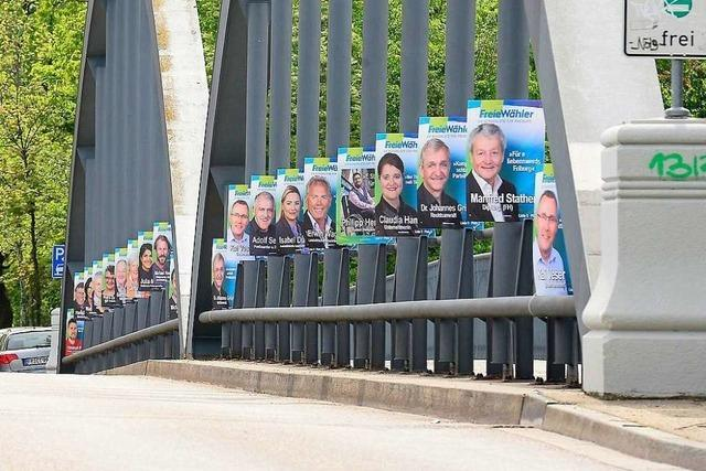 Wie viel Wahlwerbung verträgt das Freiburger Stadtbild?