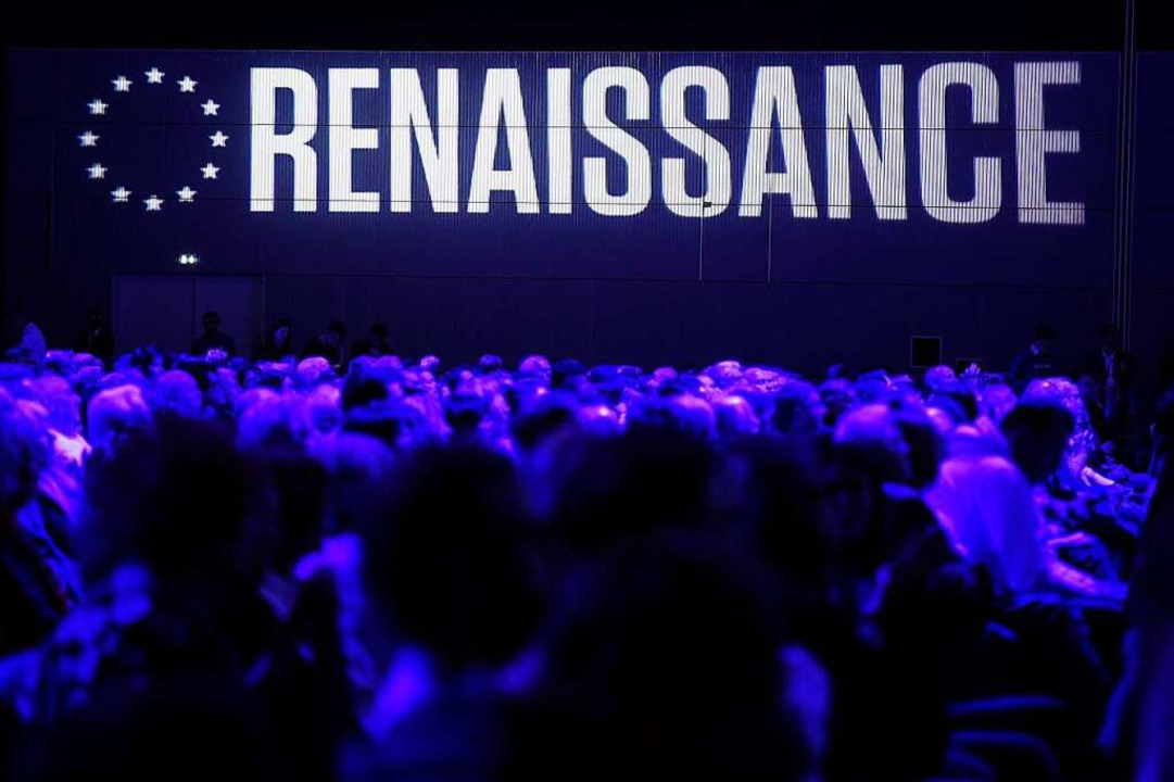Emmanuel Macrons Wahlliste heißt &#822...t es der französische Präsident nicht.  | Foto: FREDERICK FLORIN (AFP)