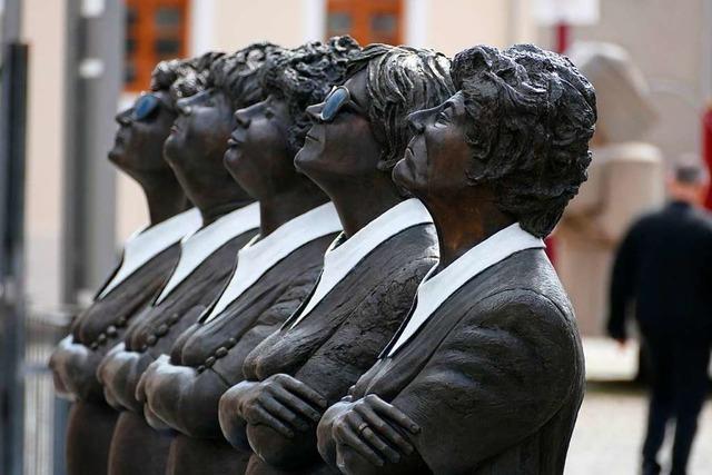 Metallskulpturen erobern die Lahrer Altstadt