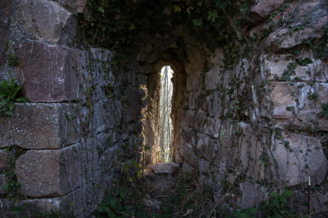 Lichtschlitz in der Mauer  | Foto: Patrik Müller