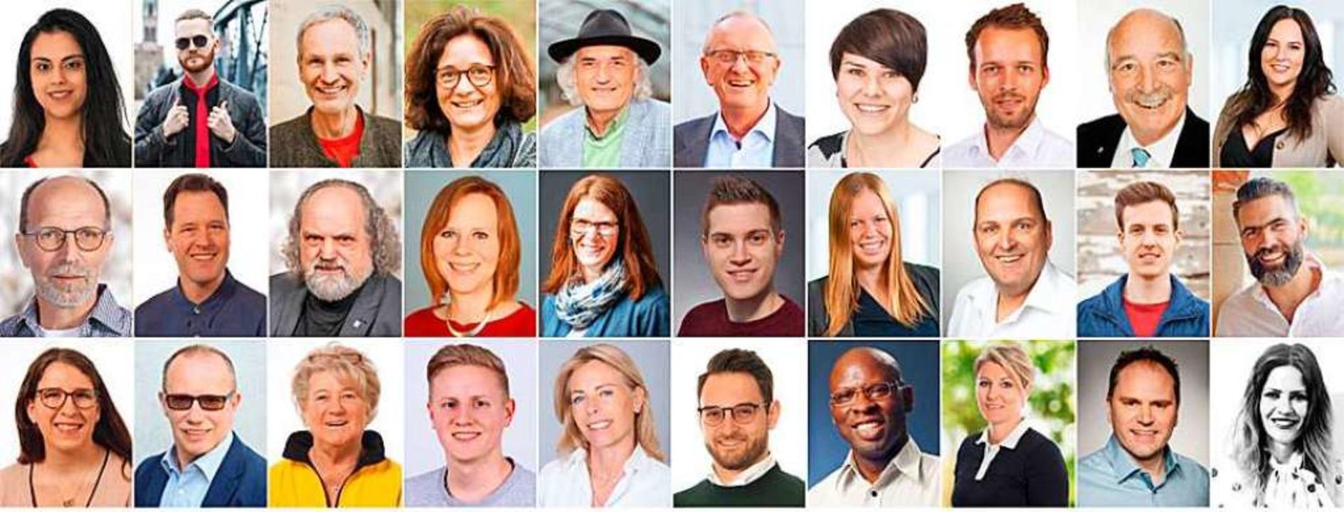 Dies sind 30 (von uns zufällig ausgewä...den für einen Gemeinderat kandidieren.    Foto: BZ