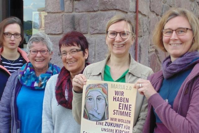 Frauen organisieren Aktion vor Fridolinsmünster