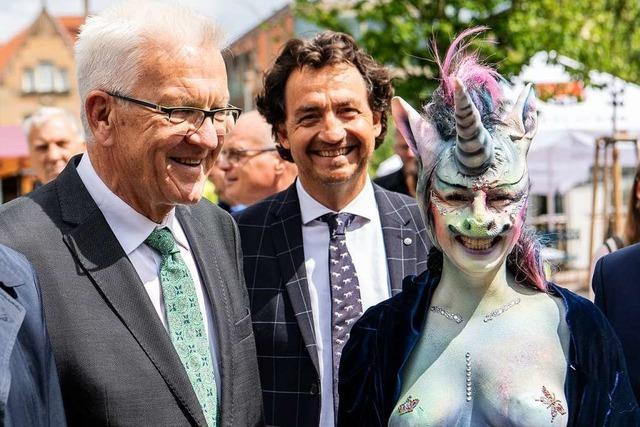 Eine Stadträtin als Einhorn? Kretschmann bleibt cool
