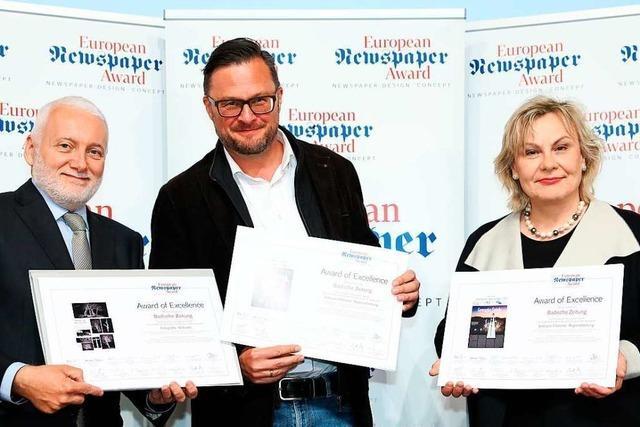 European Newspaper Award: Drei Preise für die Badische Zeitung