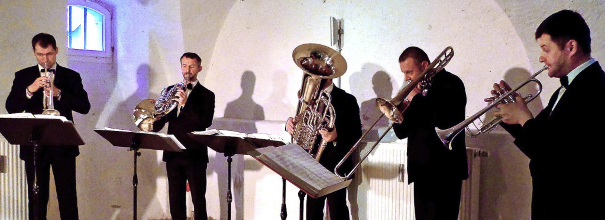 Die Bläserformation Brass Quintett Aca...ew begeisterte mit großer Virtuosität.  | Foto: Ute Schöler