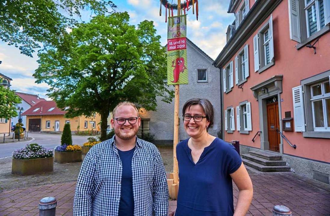 Vorfreude im Herzen Öflingens: Sascha ...Rettichfest mit traditioneller Musik.     Foto: Julia Becker