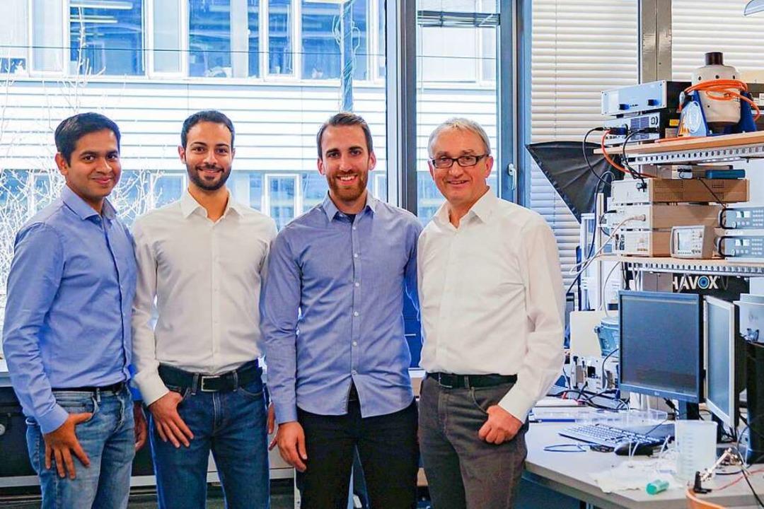 Das Muvap-Team (von links): Anjan Bhat...an, David Stork und Hans Rainer Stork     Foto: Privat