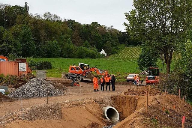 Arbeiten am Neubaugebiet Brunnacker in Merzhausen gehen voran