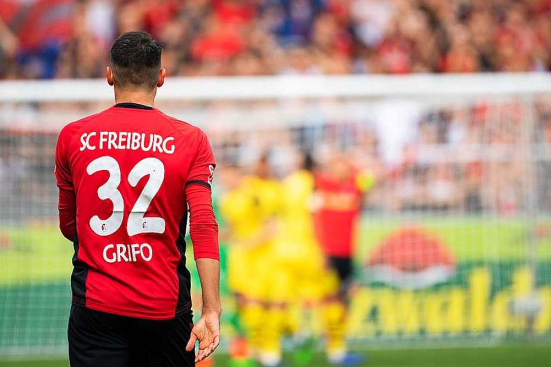 Für Vincenzo Grifo und seine Sportclub... finale Bundesligaspiel der Saison an.  | Foto: dpa