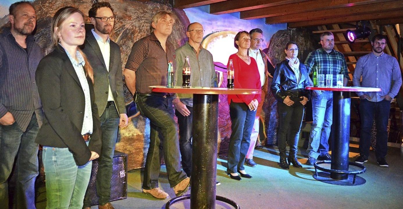 Zehn Kandidaten der CDU bewerben sich ...ragen der zahlreich anwesenden Bürger.  | Foto: Christiane Sahli