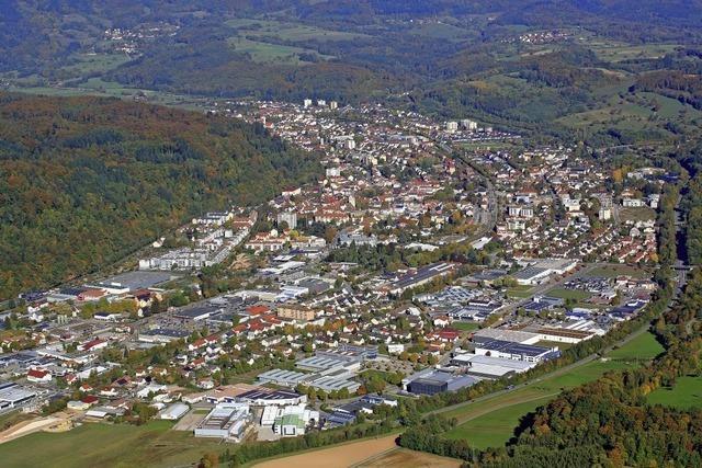 Die Region von oben: Schopfheim