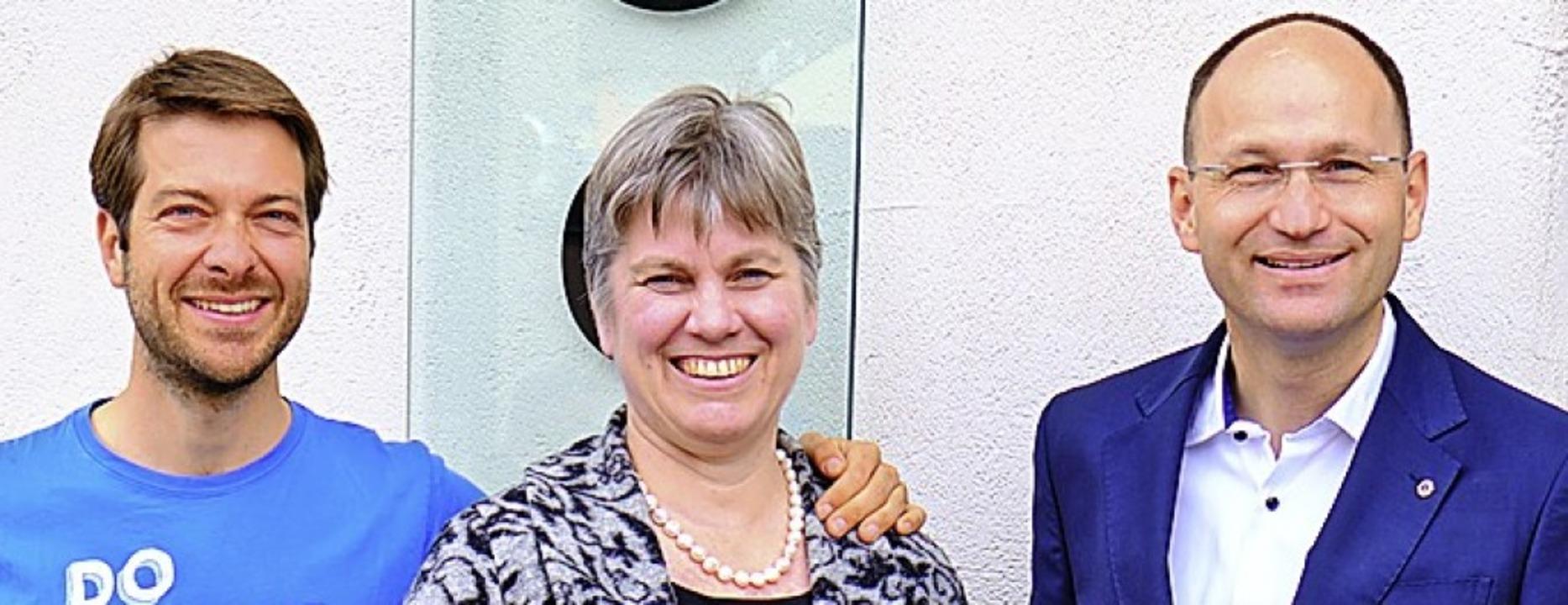Carsten Rübsaamen (links), Marion Zieg... Folk stellten das neue Programm vor.   | Foto: Ansgar Taschinski