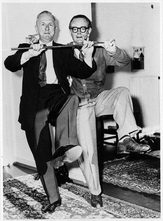 Ein Tänzchen in Ehren: George Grosz (l... Verleger Heinrich Maria Ledig-Rowohlt    Foto: Literaturarchiv Marbach