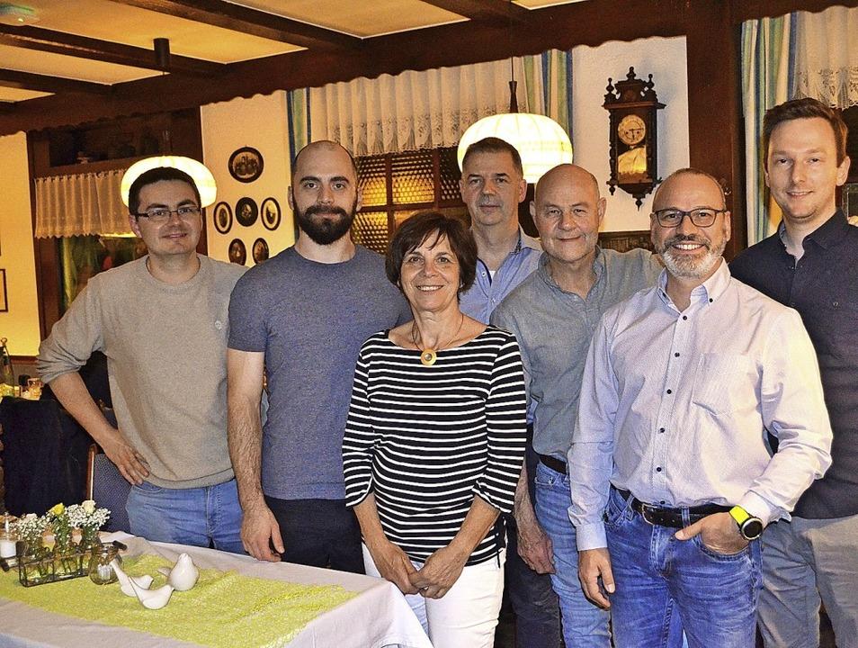 Der neugewählte Vorstand des Tischtenn... Riccardi und Eric Haase (von links).   | Foto: Nikolaus Bayer