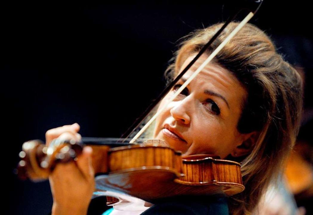 Anne-Sophie Mutter bei einem Benefiz-Konzert in ihrer Heimatstadt Wehr   | Foto: Patrick Seeger