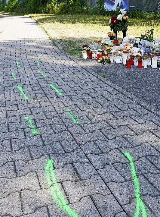 Der Unfallort in Gaggenau im Landkreis Rastatt  | Foto: dpa
