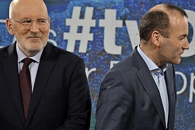 Timmermans überzeugt bei TV-Duell