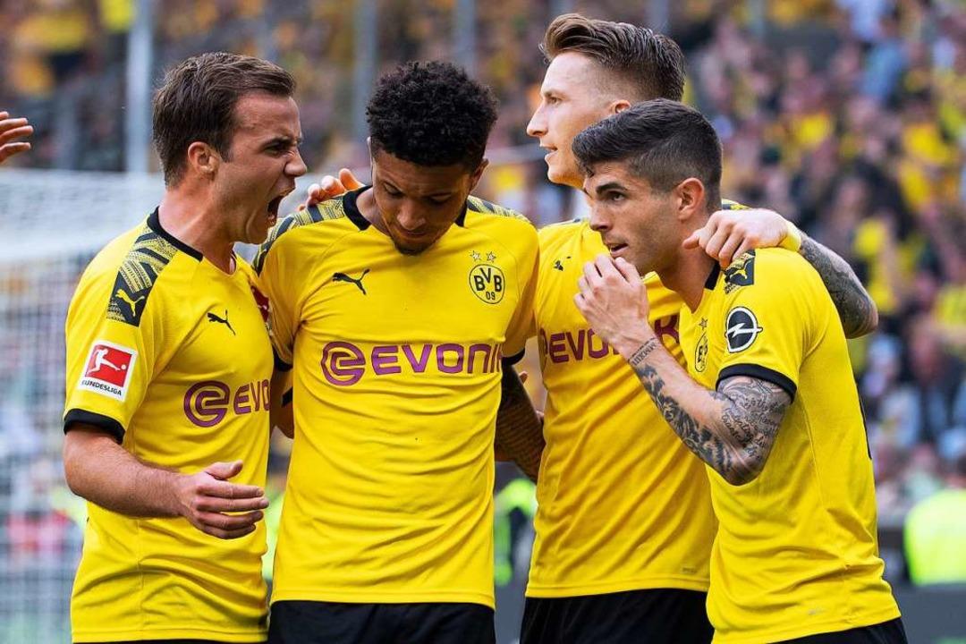 Dortmund gewann – für die Meisterschaft reichte es dennoch nicht.  | Foto: Federico Gambarini (dpa)