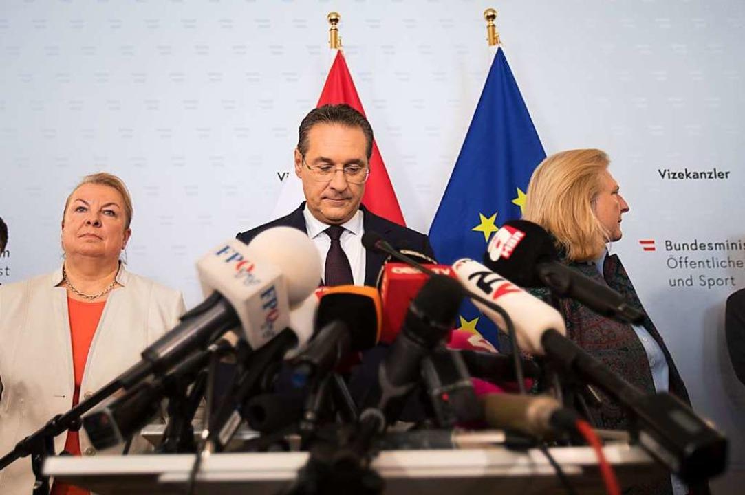 Österreichs Vizekanzler und FPÖ-Chef H...e ist von allen Ämtern zurückgetreten.    Foto: ALEX HALADA (AFP)