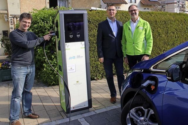 Erste Ladesäule für E-Autos in Stühlingen
