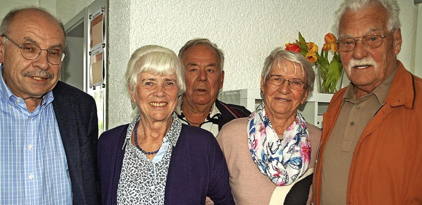 Geehrte Mitglieder (von links): Kurt O...d Ernst, Evi Bergen und Günter Linder   | Foto: Petra Wunderle