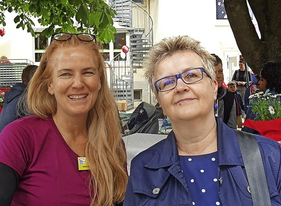 Andrea Göppert (links) leitet das Kind...ist die Vorsitzende des Trägervereins.  | Foto: Johanna Hoegg