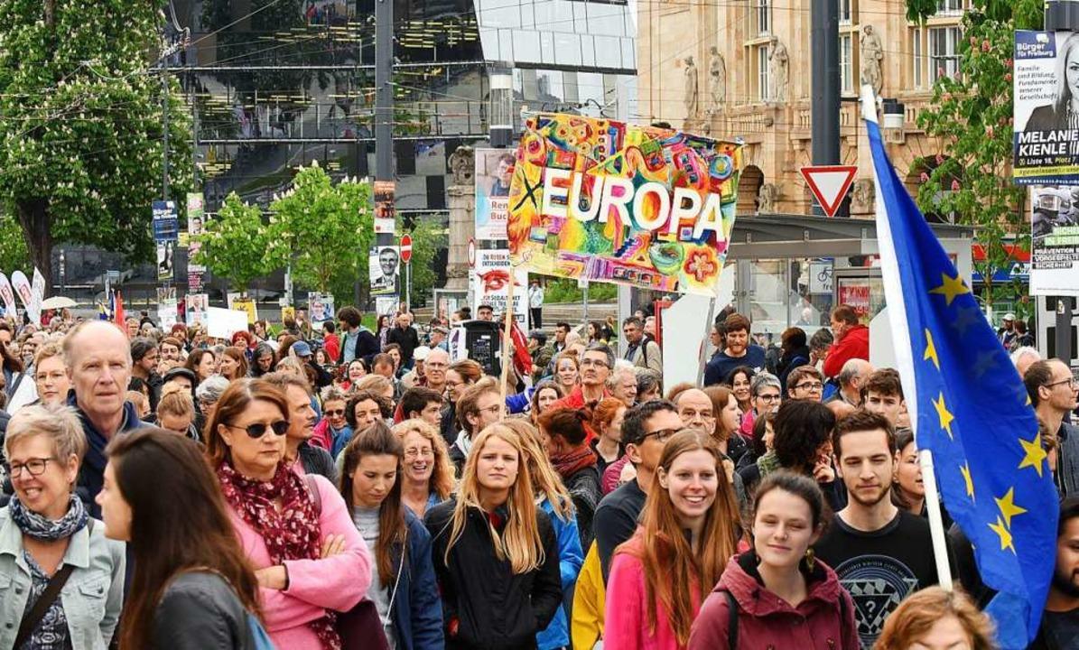 Demo für Europa in Freiburg  | Foto: Rita Eggstein