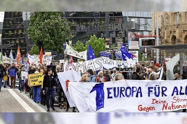 Demonstration für Europa