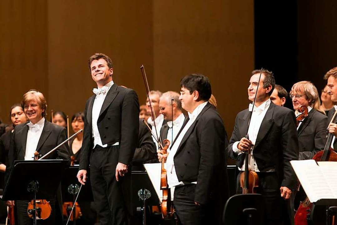 Jakub Hruša und die Bamberger Symphoniker in Baden-Baden  | Foto: Andreas Herzau