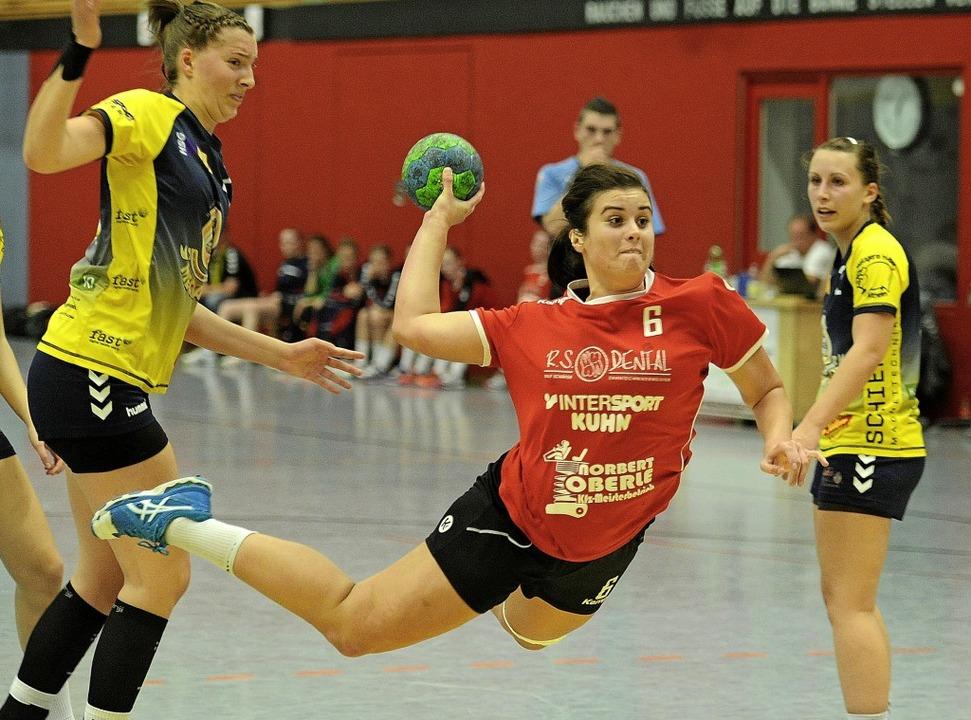 Kristina Wansidler traf sechsmal für die HSG Nonnenweier/Meißenheim.   | Foto: Pressebüro Schaller