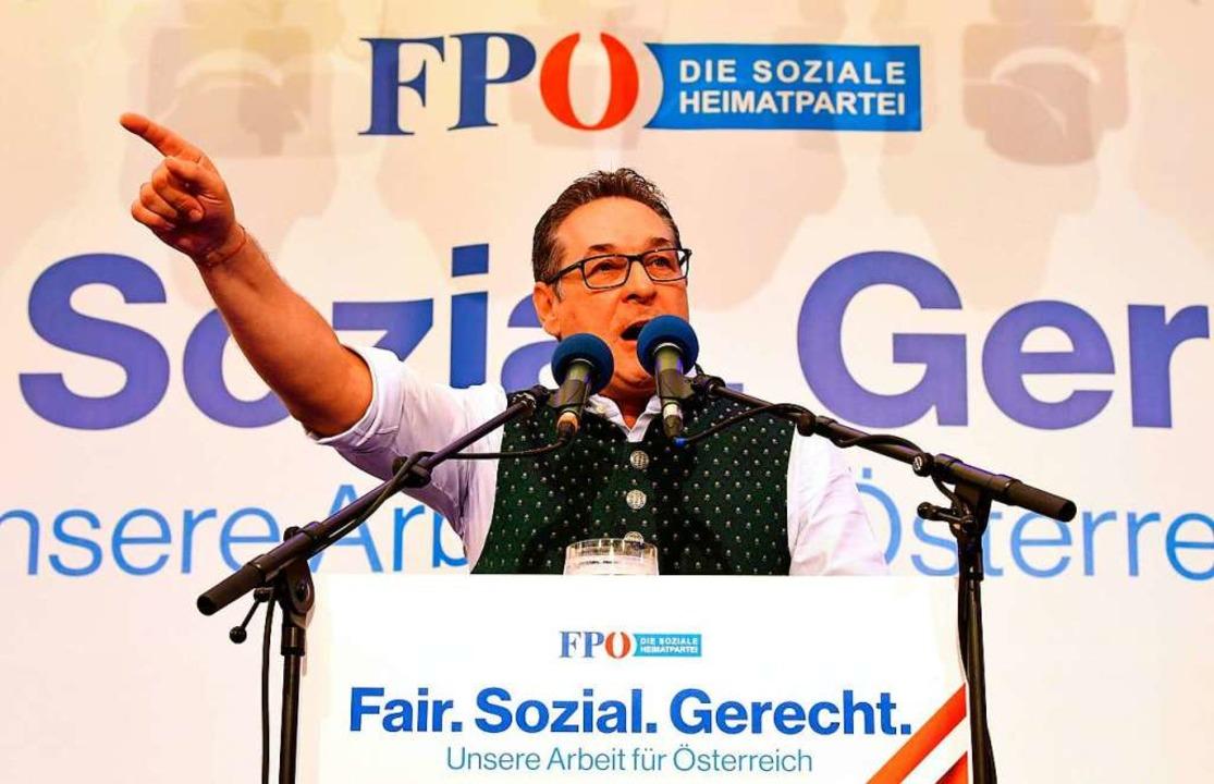 Strache Anfang Mai in Linz  | Foto: Fotokerschi.At, Werner Kerschbaum (dpa)