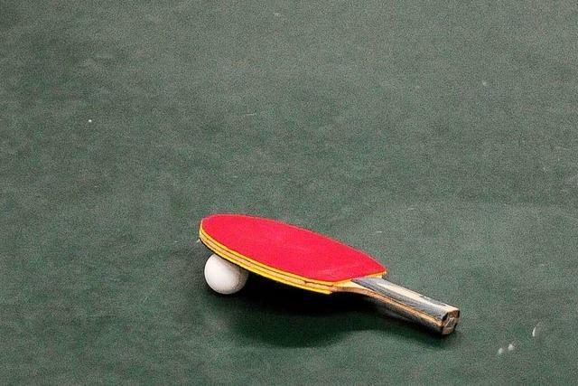 Bei den Tischtennisfreunden fehlen kleine Kinder