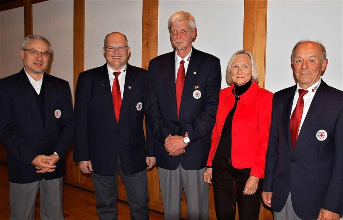 Sigrid Lettau und  Theo Benz (rechts) ...sek, Martin Meier und Gerd Seidenberg.  | Foto: Wolfgang Beck