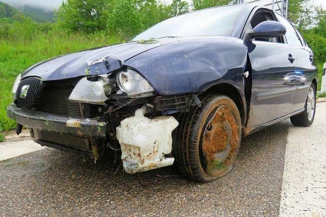 22-Jähriger baut auf der schweizerischen A 3 Unfall unter Alkoholeinfluss