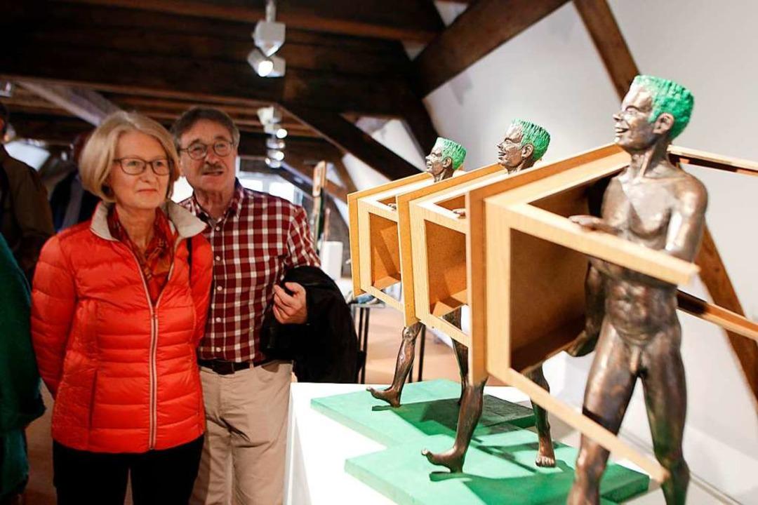 Das Serielle taucht in Messers Kunst a...che Gruppe in der Städtischen Galerie.  | Foto: Heidi Fößel