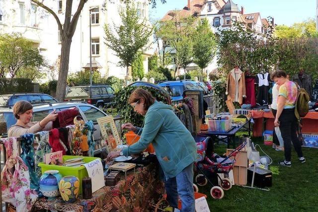 Die Stadt war am Wochenende im Flohmarkt-Fieber