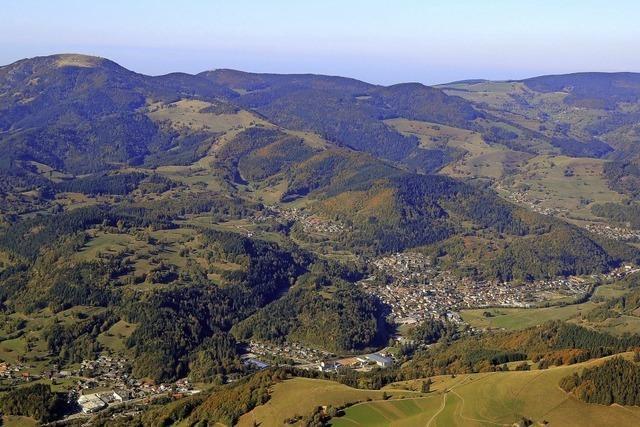 Die Region von oben: Blick auf den Belchen