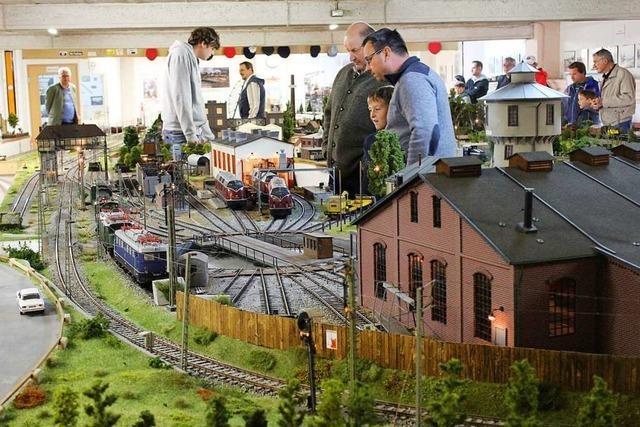 Fans bestaunen in Kirchzarten eine riesige Modelleisenbahn-Anlage