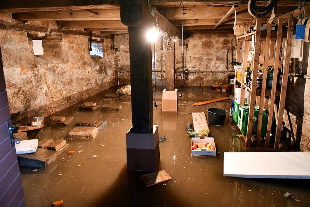 Viel zu feucht: Ein Keller in Kippenheim.  | Foto: Wolfgang Künstle