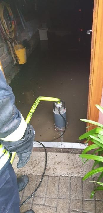 Beim Hochwasser in Kippenheim hatte die Feuerwehr viel zu tun.  | Foto: Feuerwehr Kippenheim