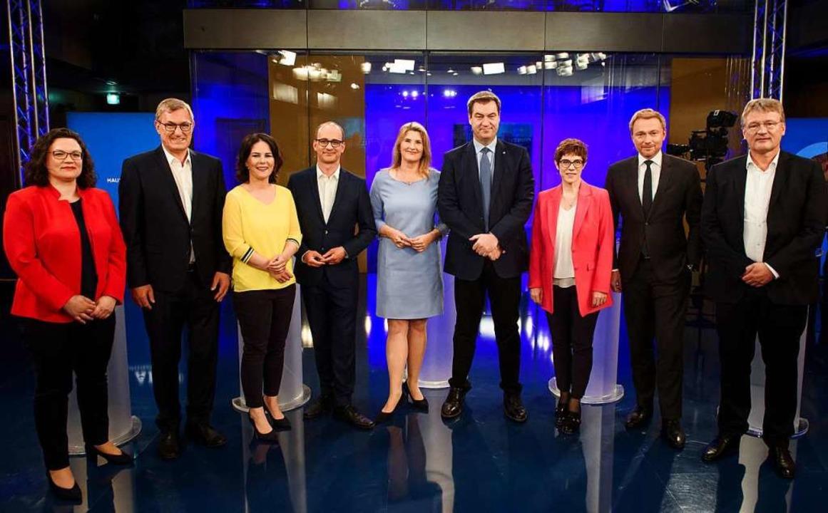 Die Protagonisten des Abends.    Foto: Gregor Fischer (dpa)