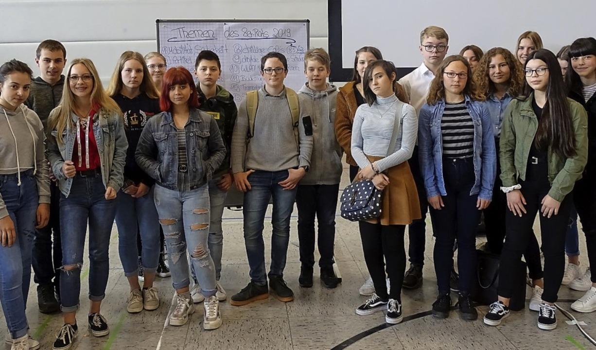 Schüler des Achterrats stellen OB, Bür...ern und Gemeinderäten ihre Ideen vor.   | Foto: suedkurier