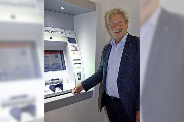 Geldautomat ist jetzt in Betrieb