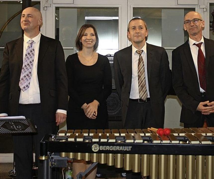 Die Combo: Gareth Reaks, Olga Krasotova, Andreas Buchholz und Eric Karle   | Foto: Hildegard Karig