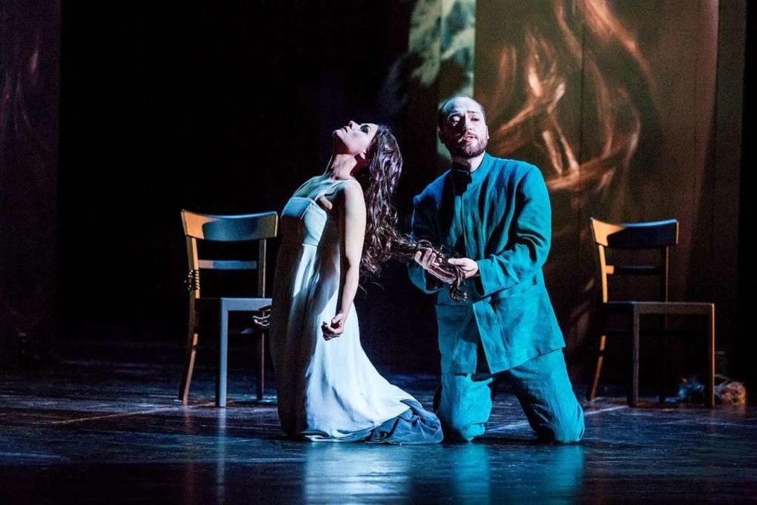 Katharina Ruckgaber als Mélisande und John Carpenter als Pelléas  | Foto: Rainer Muranyi
