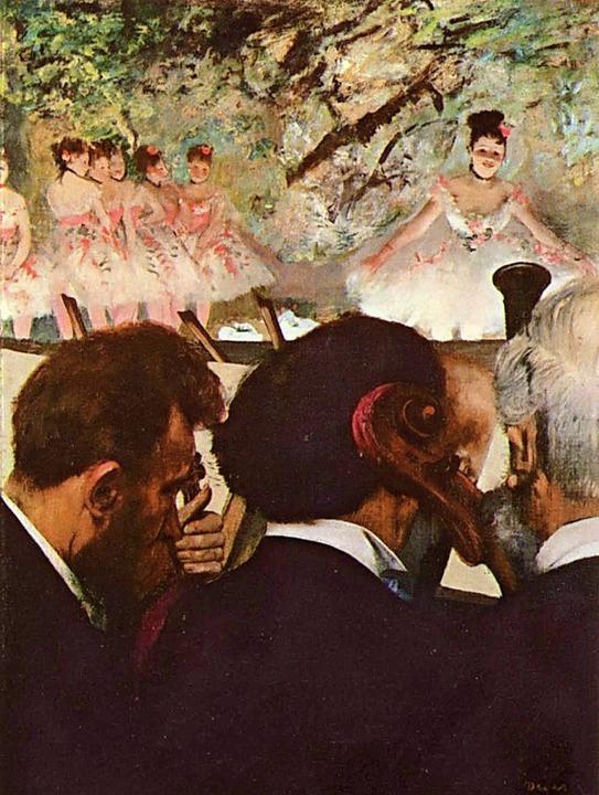 "Edgar Degas: ""Musiker in der Oper"", 1872   | Foto: akg-images"