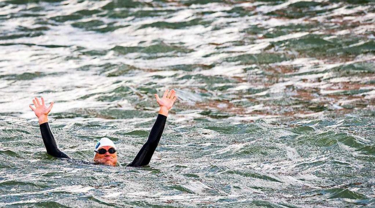 Andreas Fath am Ende seiner Rhein-Tour in Holland im Herbst 2014   | Foto: Marco De Swart